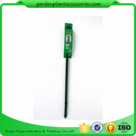 Triangle Plastic Coated Steel Plant Support Stakes / Green Garden Stakes  *D7 X 600mm 33